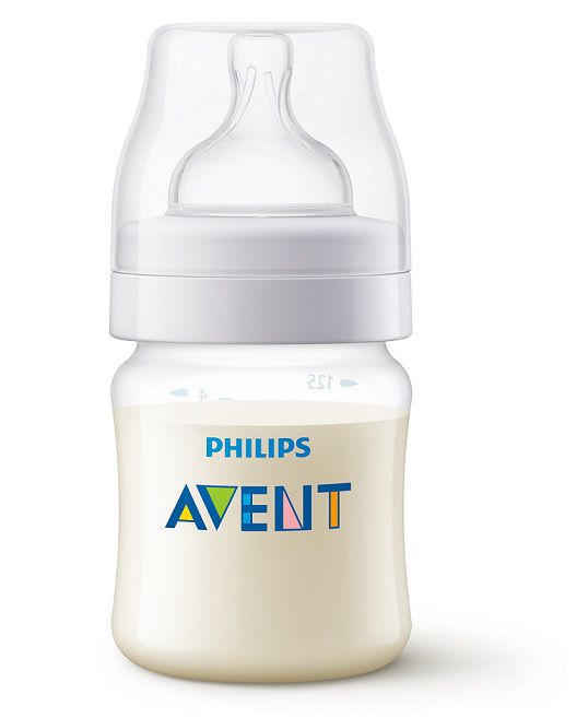 Mamadeira Anti-colic clássica branca 125 ml (0m+) - Avent  - Kaiuru Kids