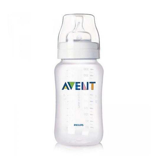 Mamadeira Anti-colic clássica branca 330 ml (3m+) - Avent  - Kaiuru Kids