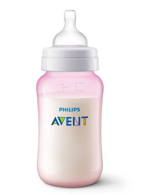 Mamadeira Anti-colic clássica rosa 330 ml (3m+) - Avent  - Kaiuru Kids