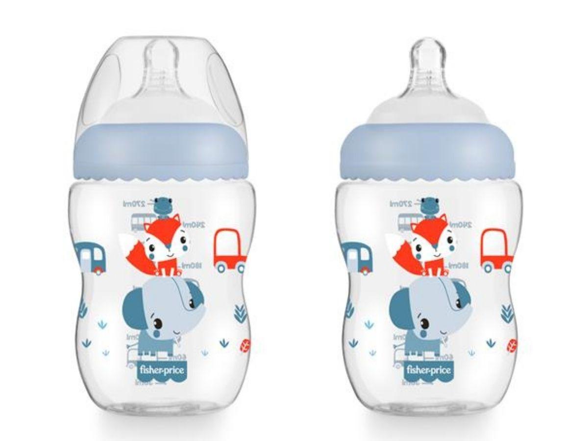 Mamadeira First Moments Azul Marshmallow 270ml (2M+) Fisher-Price  - Kaiuru Kids