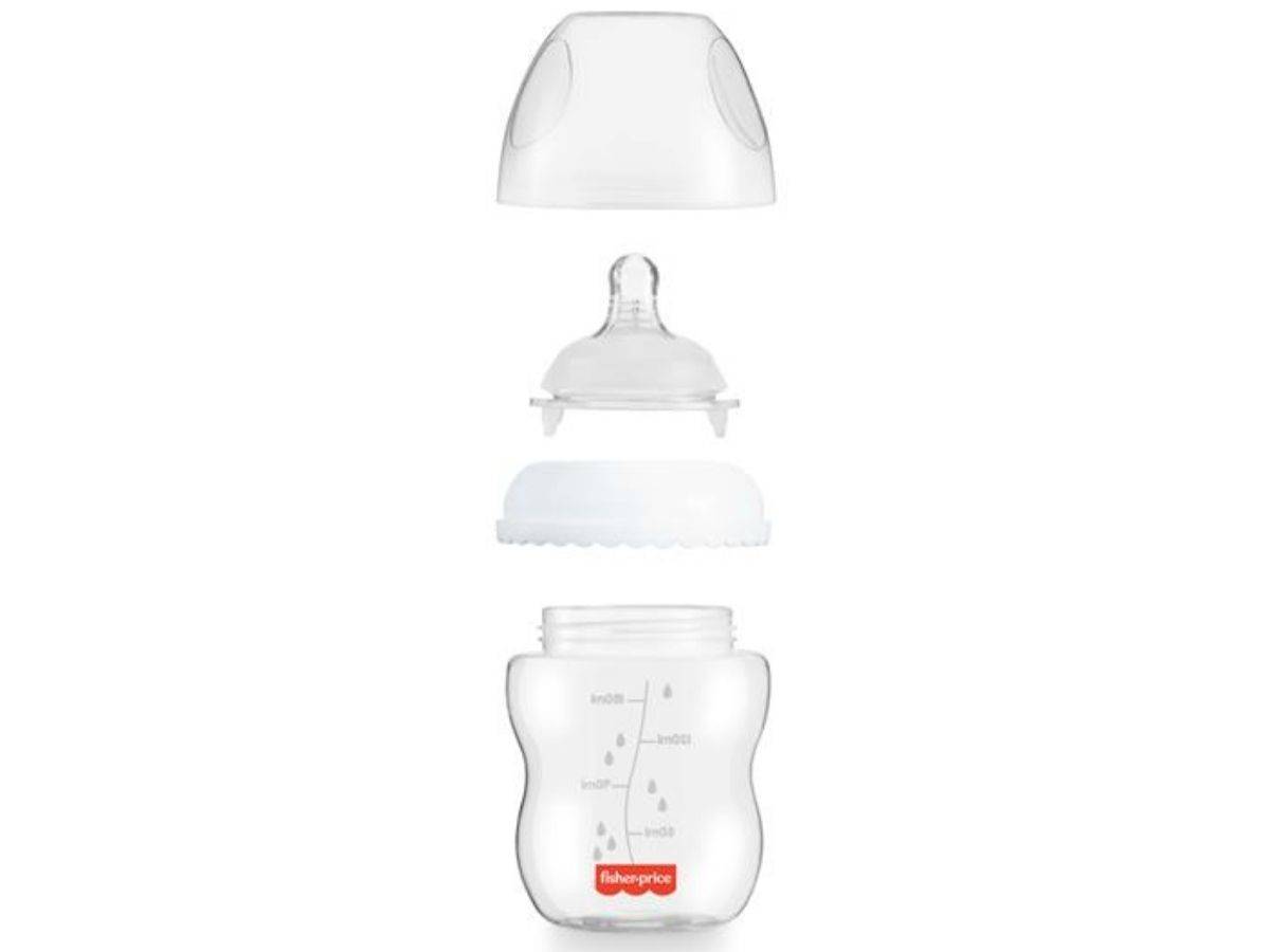 Mamadeira First Moments clássica neutra 150ml (0M+) Fisher-Price  - Kaiuru Kids