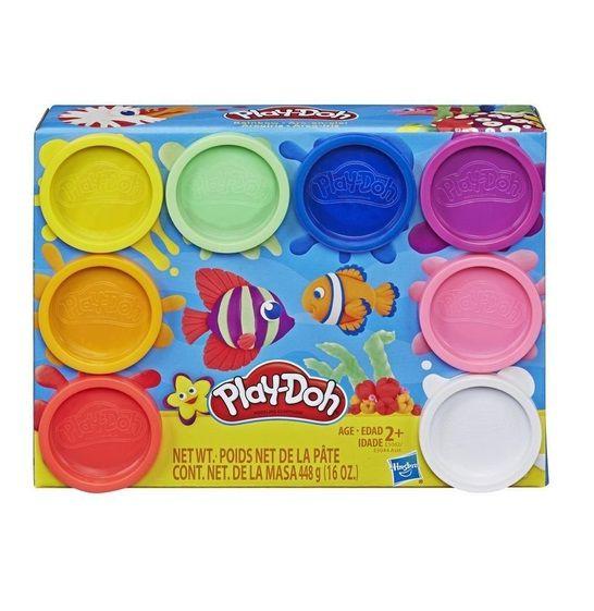 Massinha PLAY-DOH 8 potes clássico - Hasbro  - Kaiuru Kids