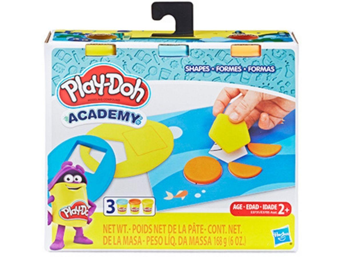 Massinha PLAY-DOH Academy Formas 2+ anos - Hasbro  - Kaiuru Kids