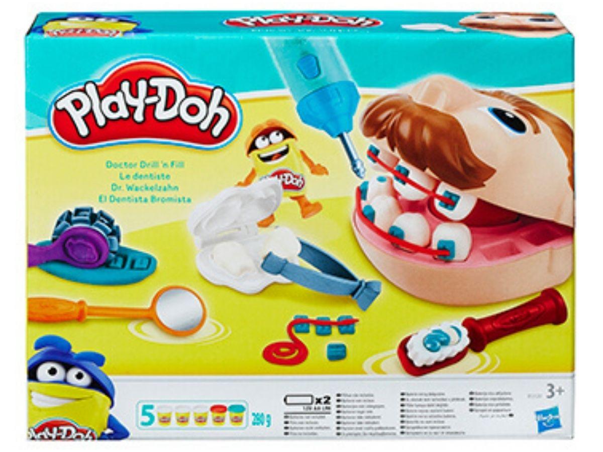 Massinha PLAY-DOH Conjunto dentista 3+ anos - Hasbro  - Kaiuru Kids
