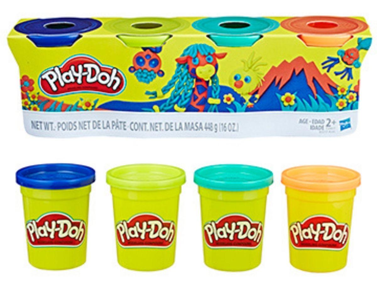 Massinha PLAY-DOH kit com 4 potes sortidos 2+ anos - Hasbro  - Kaiuru Kids