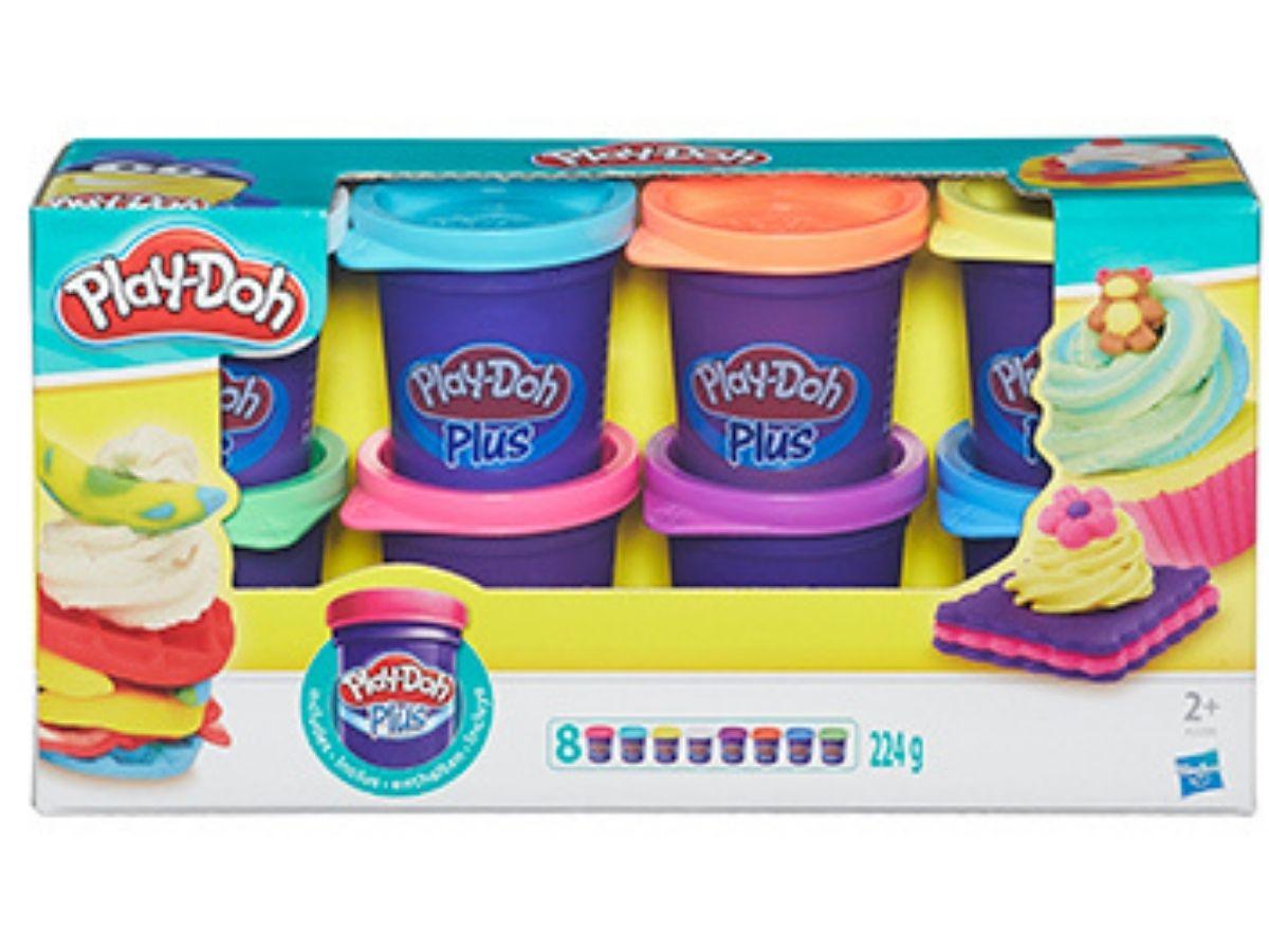 Massinha PLAY-DOH Plus com 8 potes sortidos 2+anos - Hasbro  - Kaiuru Kids