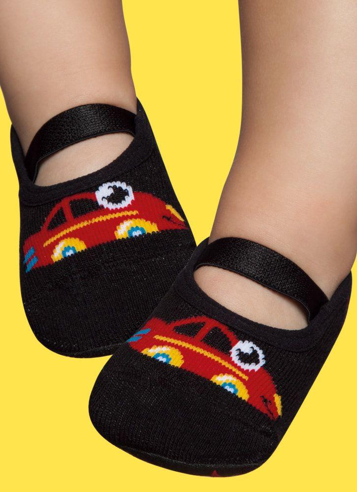 Meia sapatilha pansocks baby preto - Puket  - Kaiuru Kids