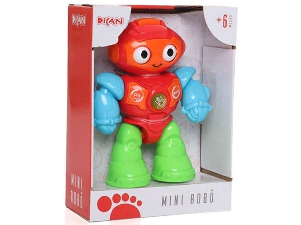 Mini robô interativo voz e melodias 6M+ Dican  - Kaiuru Kids