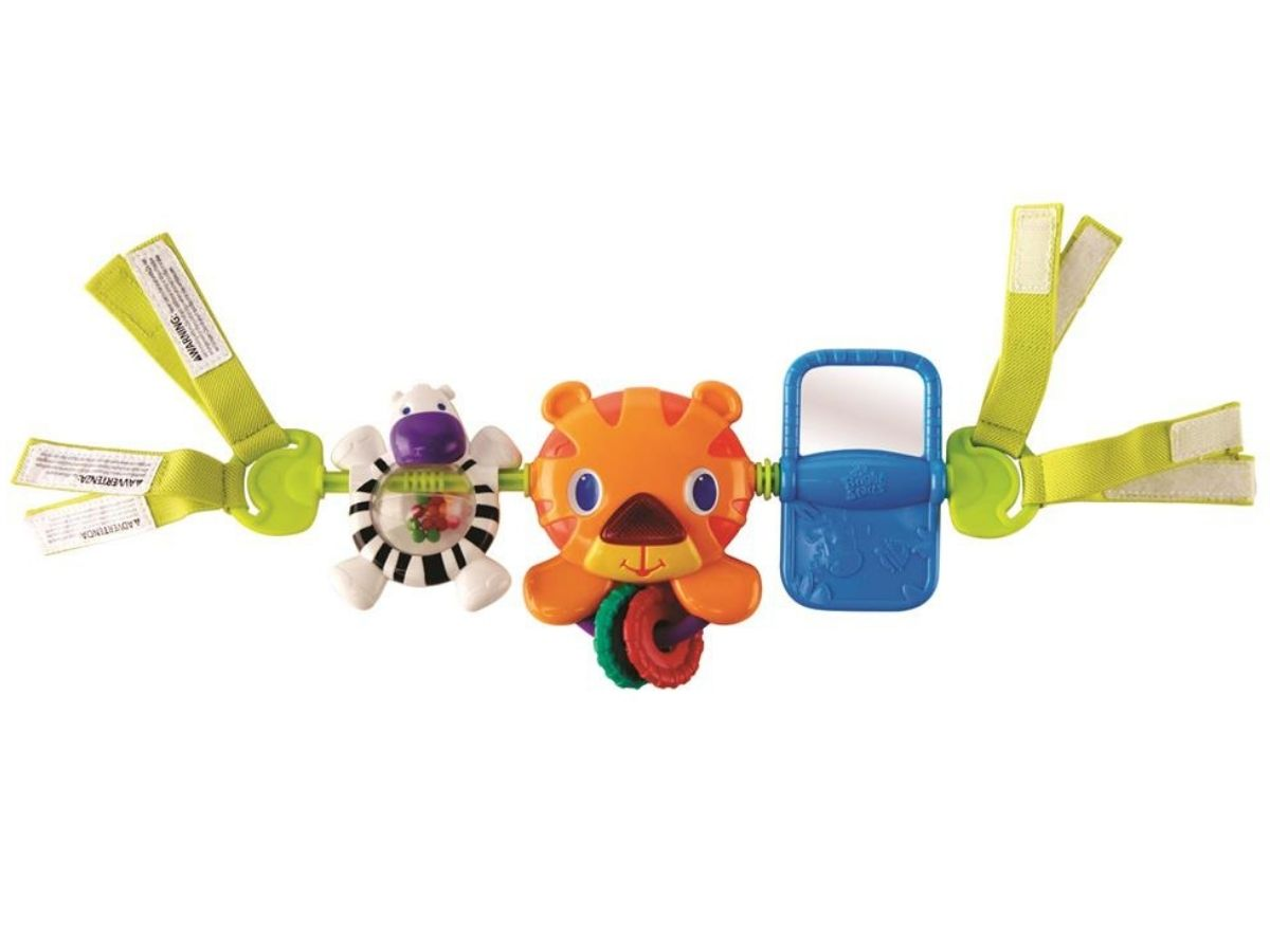 Móbile barra de atividades musical Take along Tiger 0M+ Bright Starts  - Kaiuru Kids