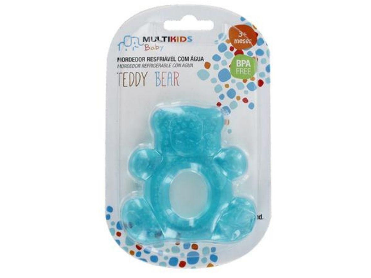 Mordedor com água Teddy bear 3M+ Multikids Baby  - Kaiuru Kids