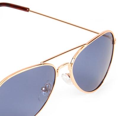 Óculos de sol aviador dourado - The Children