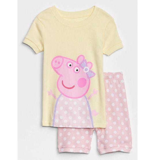 Pijama com short Peppa Pig - GAP  - Kaiuru Kids