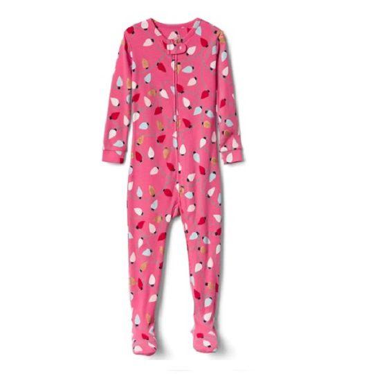 Pijama de malha rosa com pé - GAP  - Kaiuru Kids