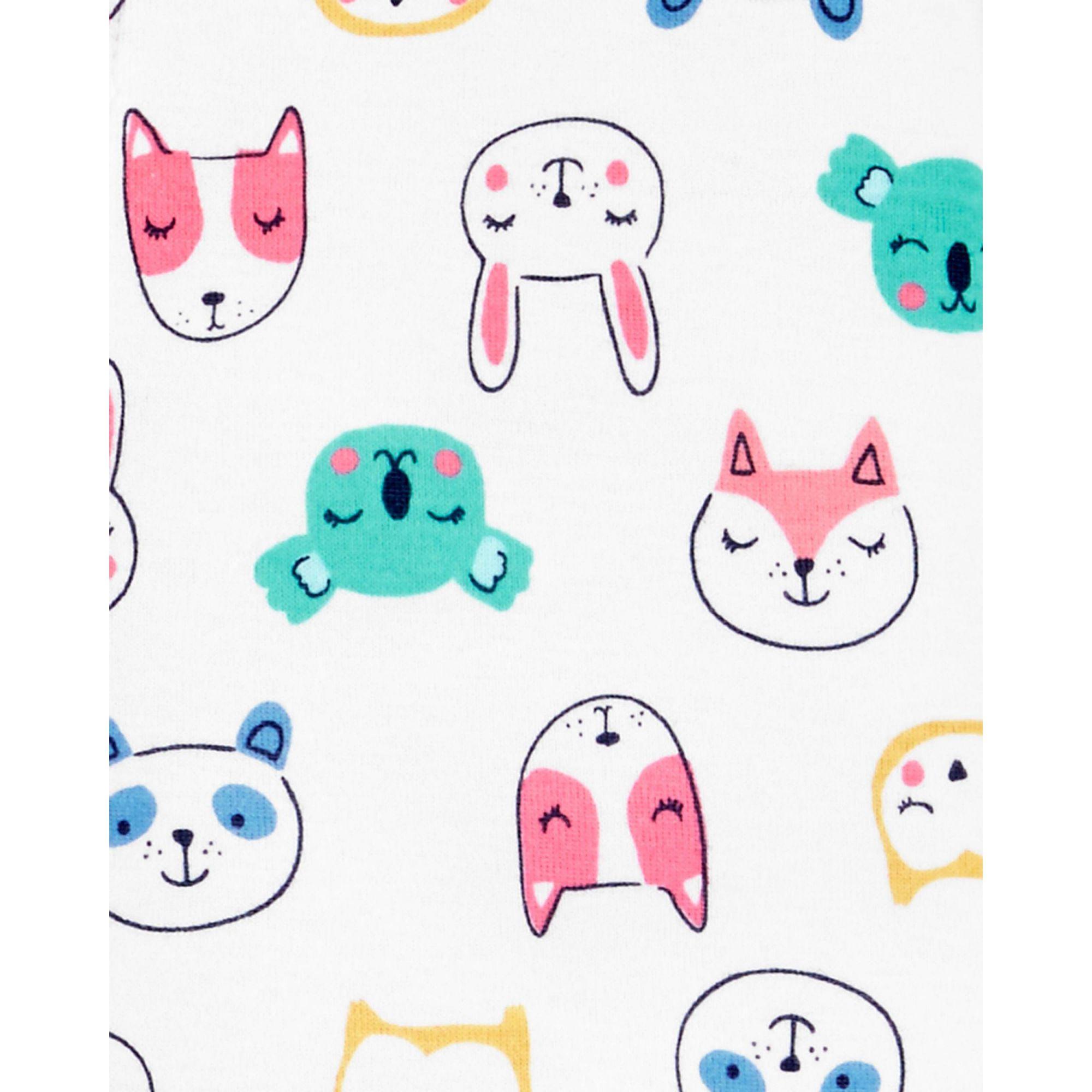 Pijama macacão de malha animais - Carters  - Kaiuru Kids