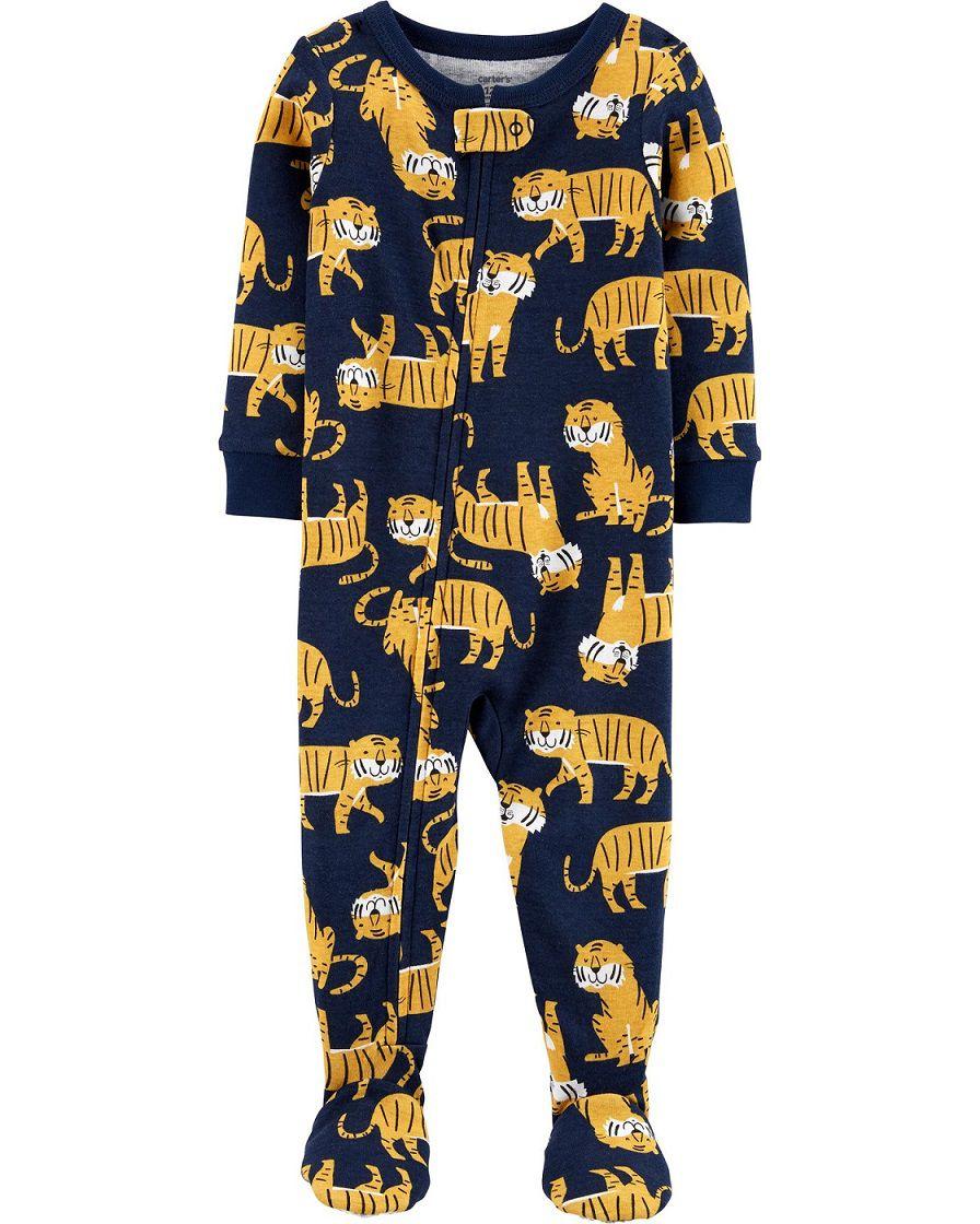 Pijama macacão de malha azul tigres - Carters  - Kaiuru Kids