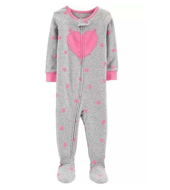 Pijama macacão de malha coração - Carters  - Kaiuru Kids