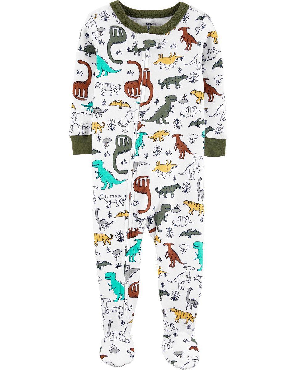 Pijama macacão de malha oliva dinossauros - Carters  - Kaiuru Kids