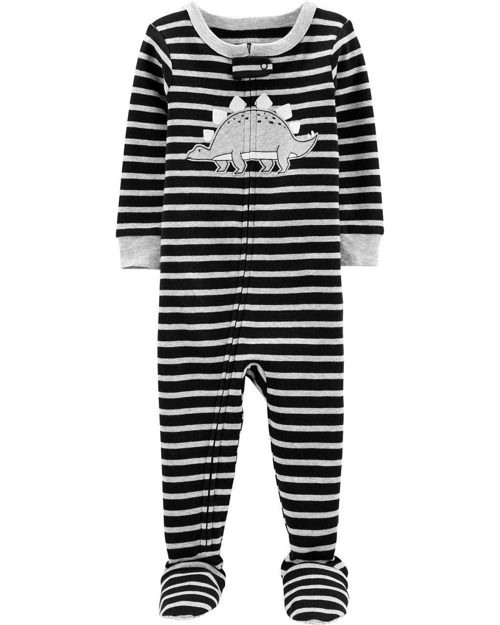 Pijama macacão de malha preto estegossauro - Carters  - Kaiuru Kids