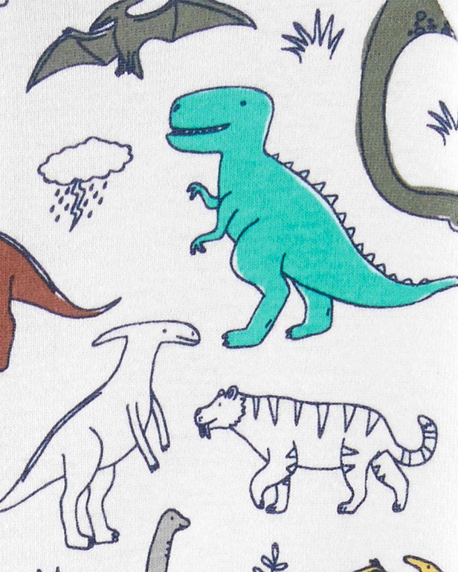Pijama macacão de malha sem pé oliva dinossauros - Carters  - Kaiuru Kids