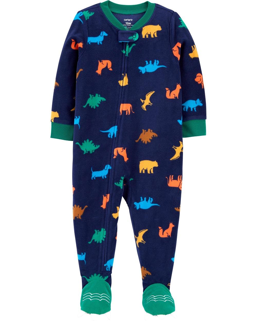Pijama macacão de plush azul marinho dinossauros - Carters  - Kaiuru Kids