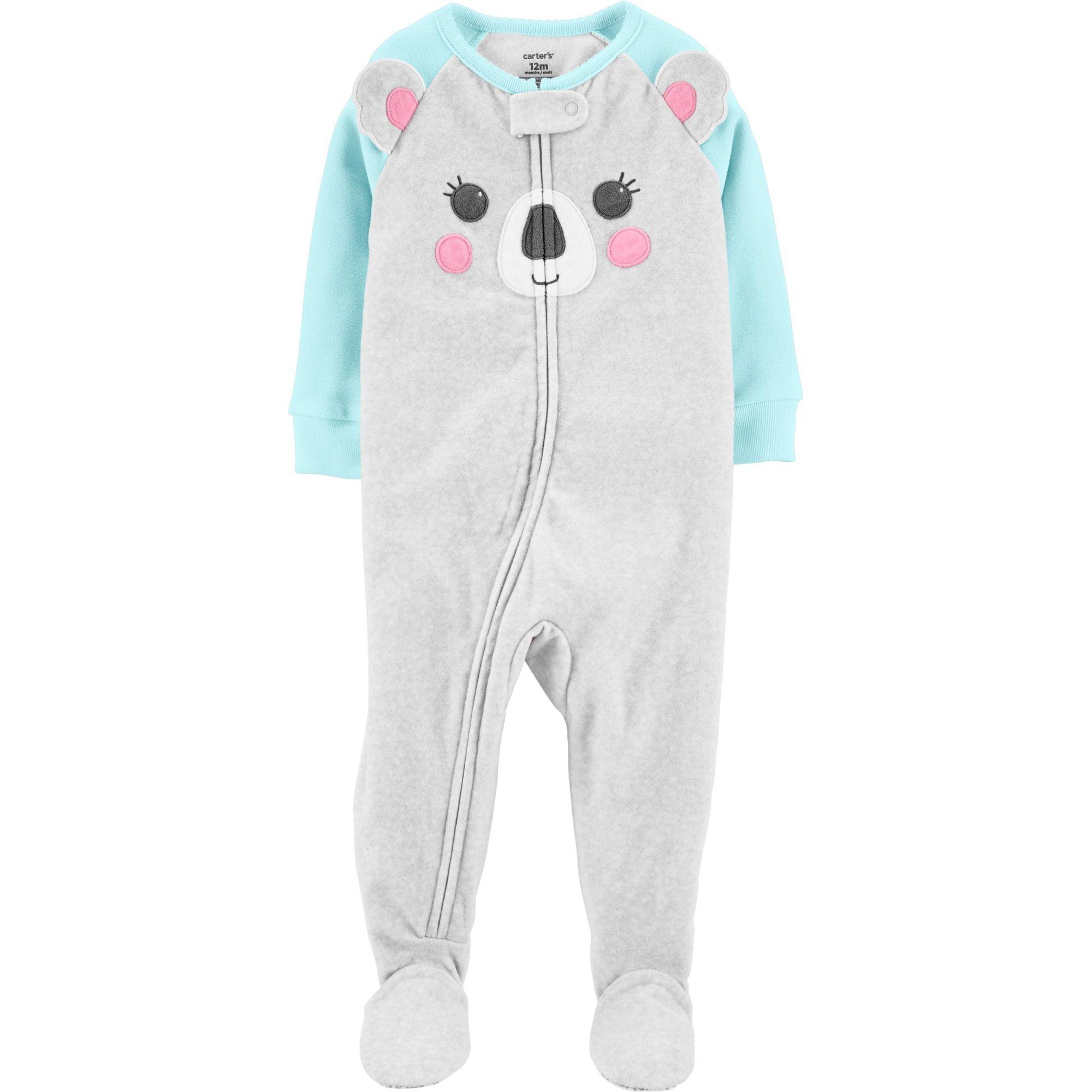 Pijama macacão de plush cinza coala - Carters  - Kaiuru Kids
