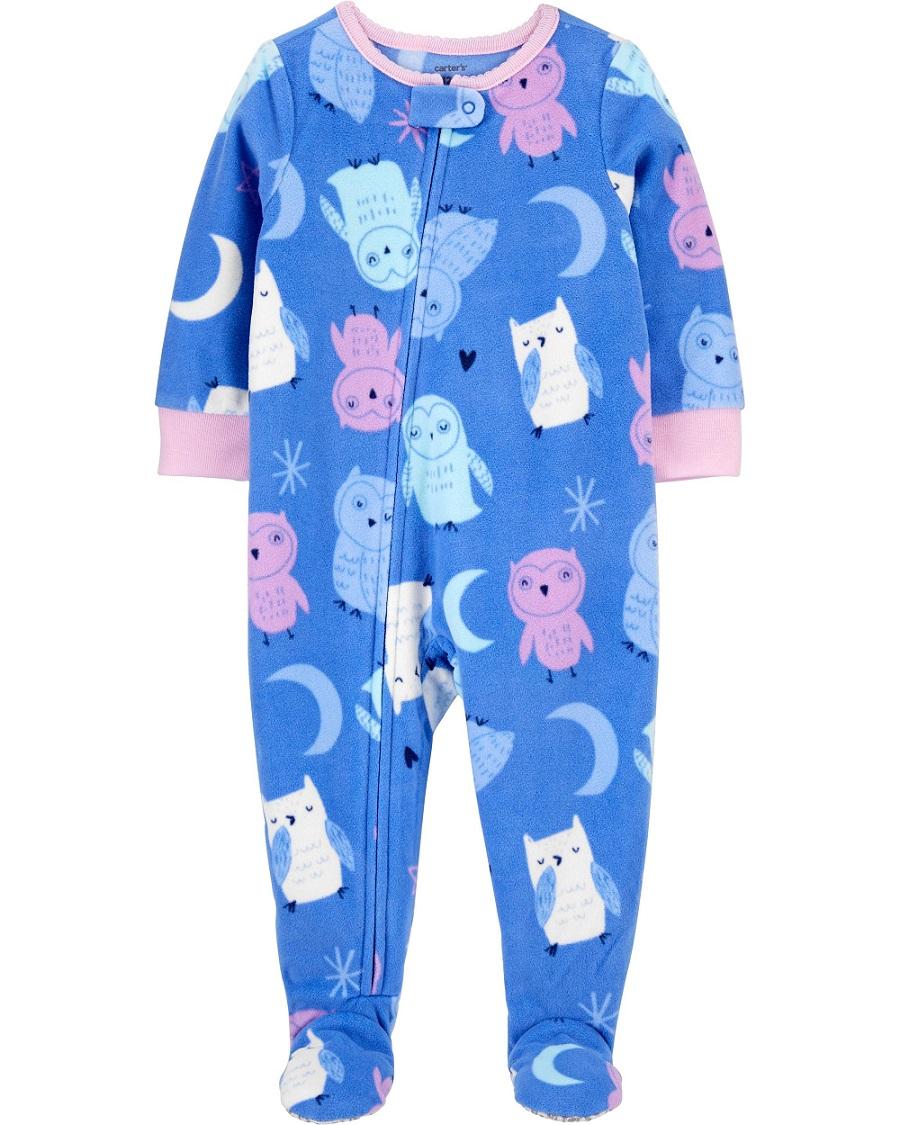 Pijama macacão de plush lilás Corujas - Carters  - Kaiuru Kids