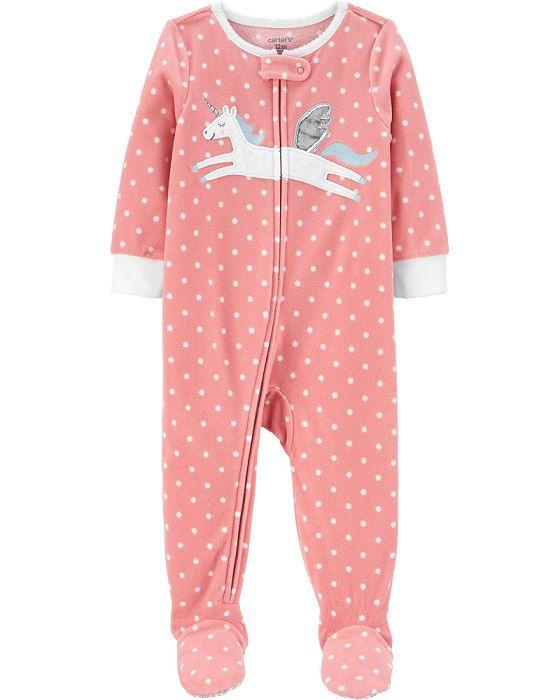 Pijama macacão de plush rosa pégasus - Carters  - Kaiuru Kids