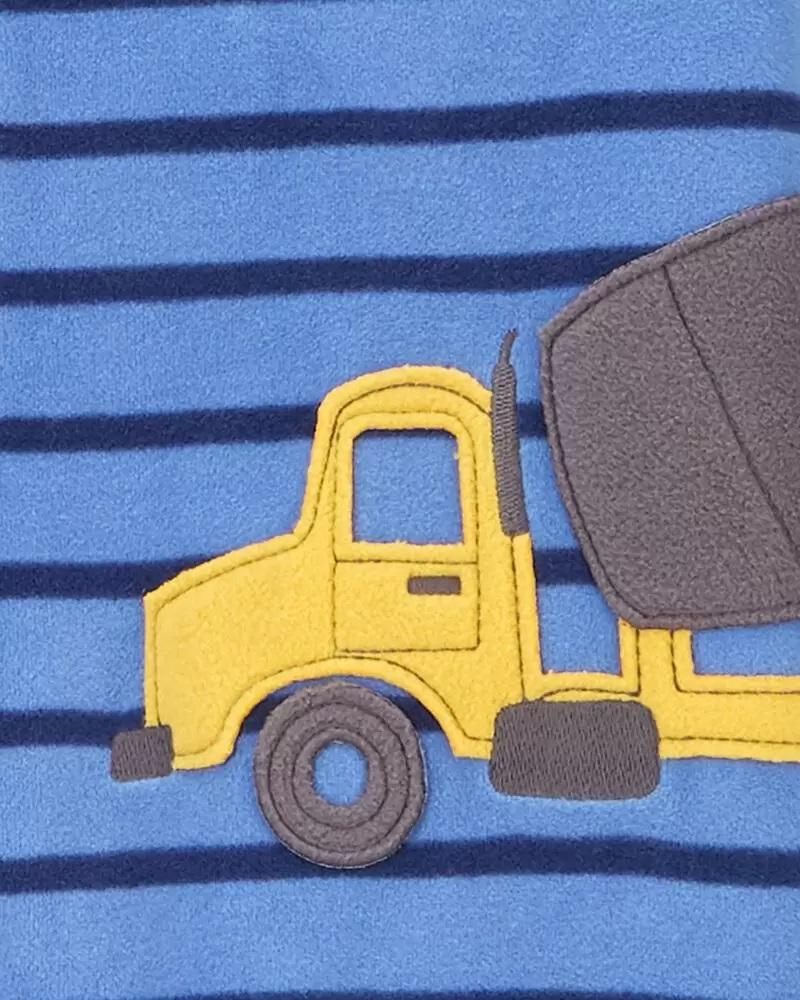 Pijama macacão de plush sem pé azul caminhão - Carters  - Kaiuru Kids