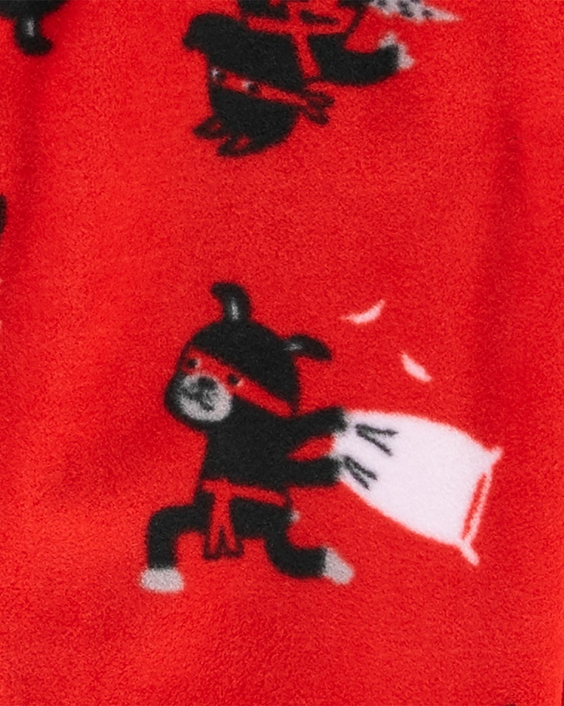 Pijama macacão de plush vermelho Ninjas - Carters  - Kaiuru Kids