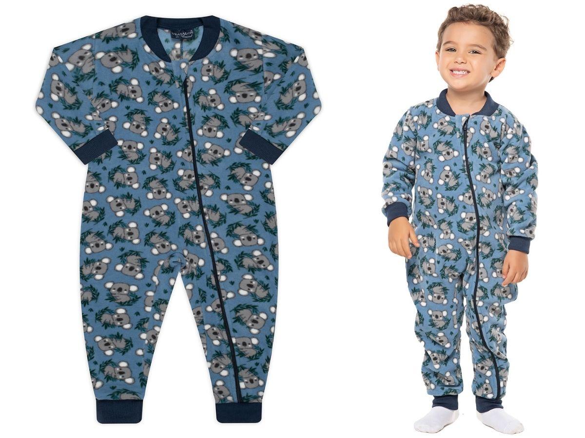 Pijama macacão soft Azul Koala - Vrasalon  - Kaiuru Kids