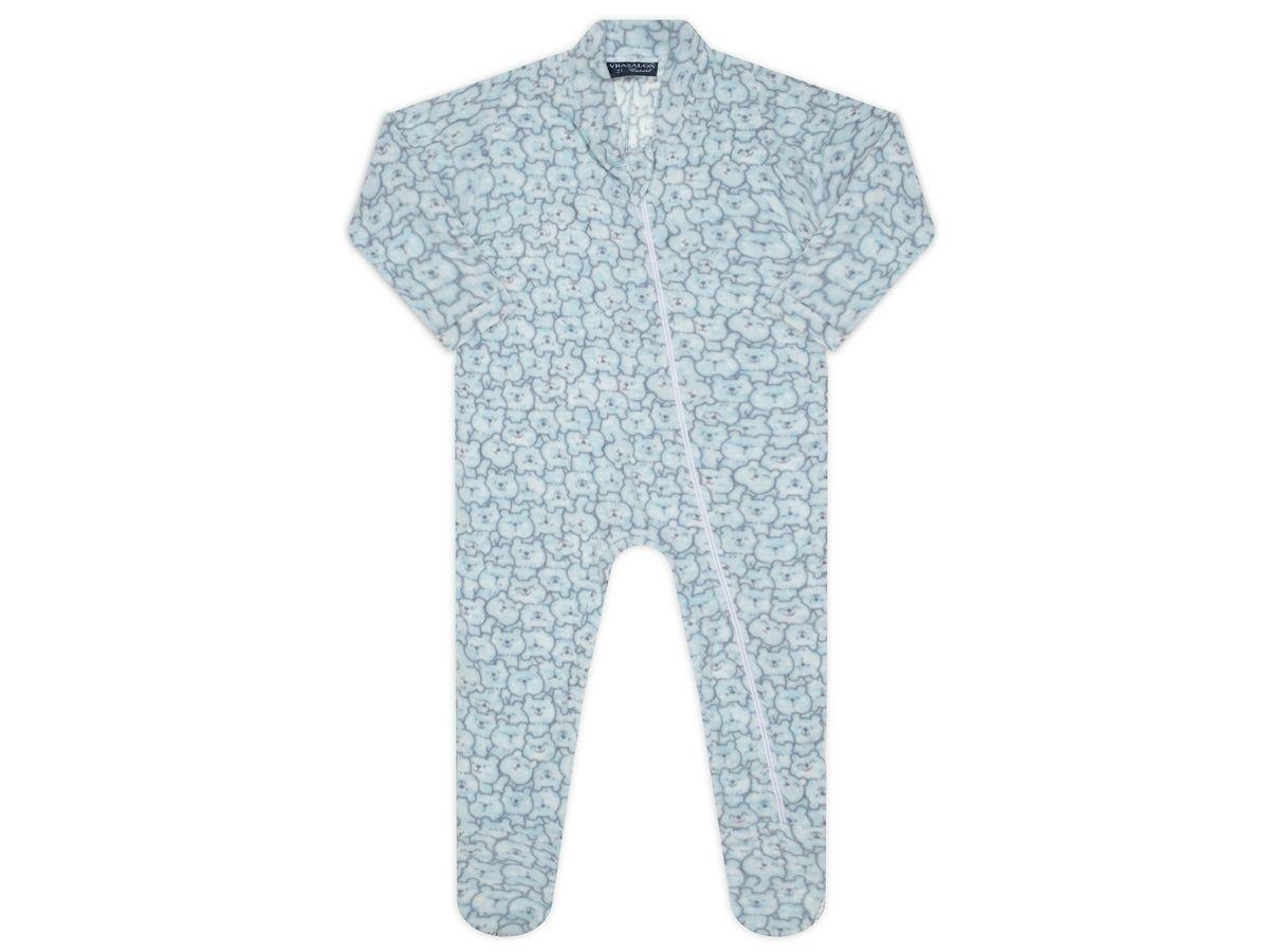 Pijama macacão soft Azul Ursinho - Vrasalon  - Kaiuru Kids