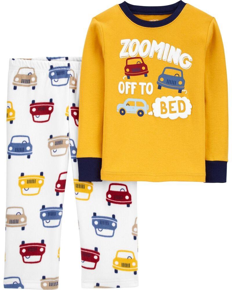 Pijama manga longa em fleece e algodão - Carters  - Kaiuru Kids
