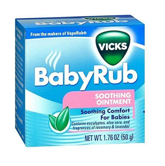 Pomada calmante BabyRub - Vicks  - Kaiuru Kids