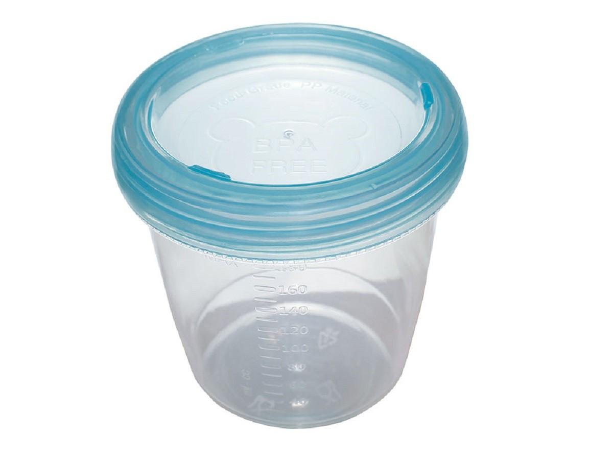 Potes para armazenamento de leite materno e papinhas - Clingo  - Kaiuru Kids