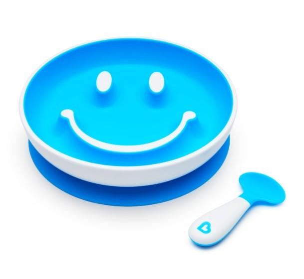 Prato Smile com Ventosa e Colher - Munchkin  - Kaiuru Kids