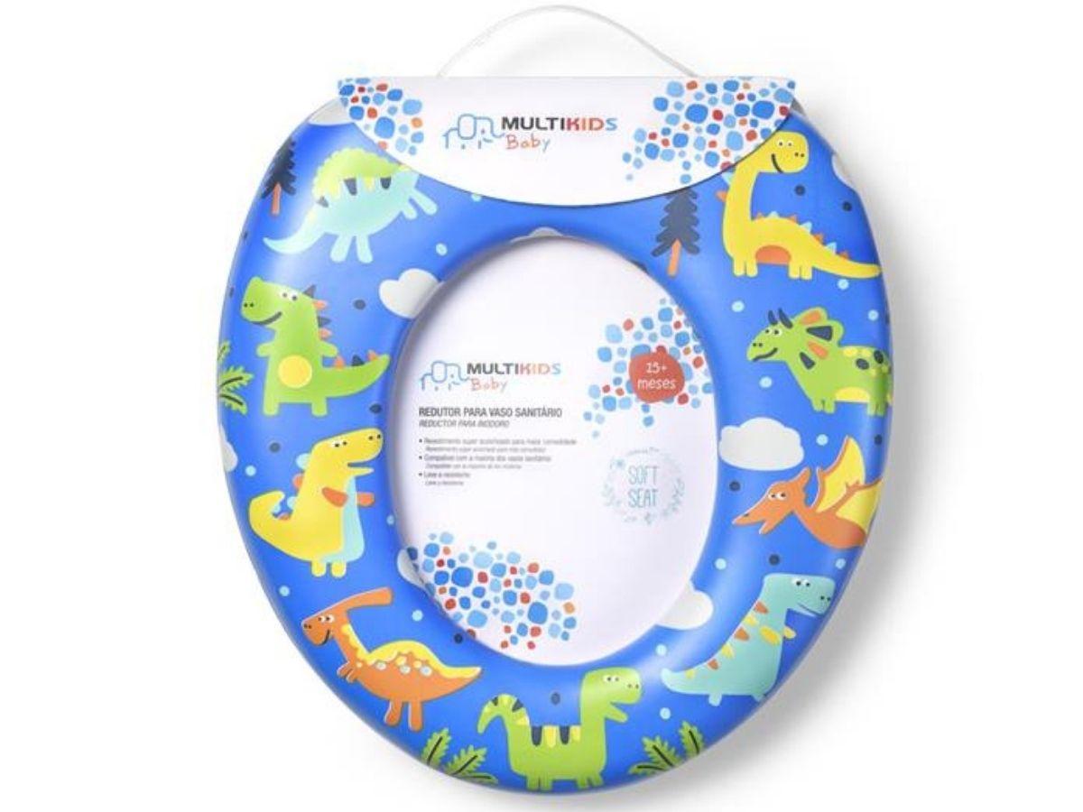 Redutor para vaso sanitário acolchoado - Multikids Baby  - Kaiuru Kids