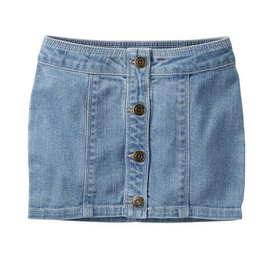 Saia jeans clara com botões - Carter