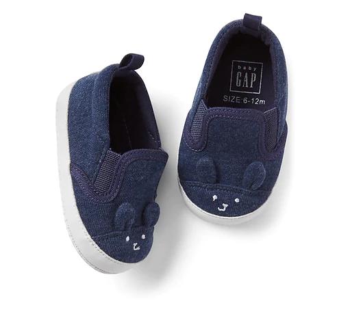 Sapato sneakers azul marinho coelho - GAP - Kaiuru Kids - roupas e ... 519877f4d9f