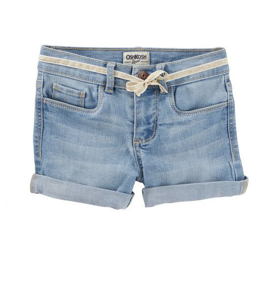 Short jeans claro com cinto - OshKosh  - Kaiuru Kids