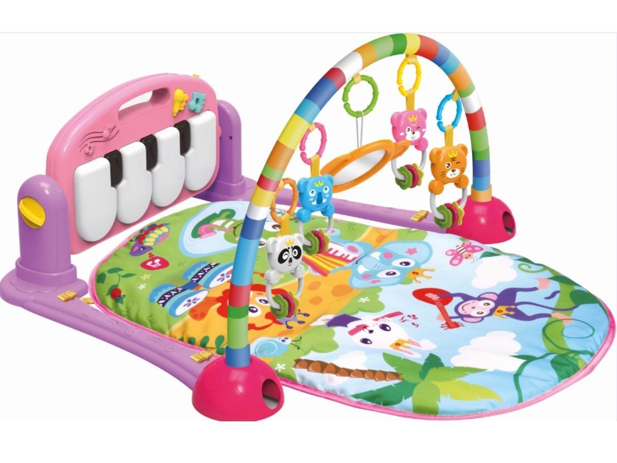 Tapete de atividades piano rosa - Dican  - Kaiuru Kids