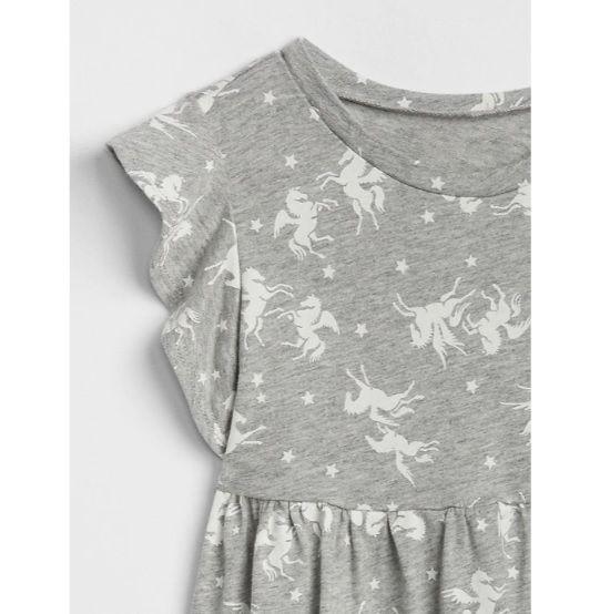 Vestido de malha unicórnios - GAP  - Kaiuru Kids