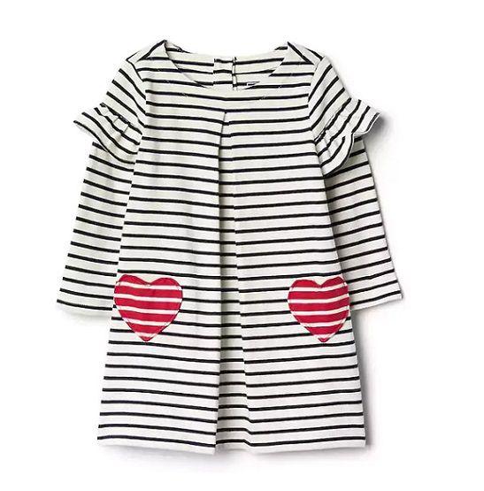 Vestido listrado coração - GAP  - Kaiuru Kids