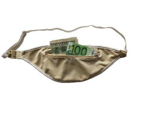 Doleira Porta Dolar Dinheiro Documento Pochete Viagem Santino