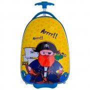 Mala de Viagem Infantil Pequena de Mão Padrão Bordo (10kg) em Policarbonato - Pirata - Convoy Kids