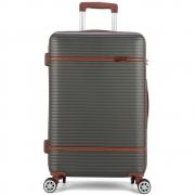 Mala de Viagem Média (23 kg) Rígida em ABS com Rodas Duplas 360º - Genebra - Polo King