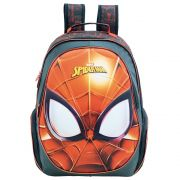 "Mochila 16"" Escolar Infantil Para Meninos - Homem Aranha - Xeryus"