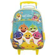 Mochila com Rodas Infantil Escolar Com Rodas - Baby Shark Family - Xeryus