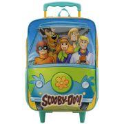 """Mochila Escolar 14"""" Com Rodas - Scooby-Doo - Xeryus"""
