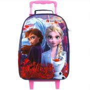 Mochila Escolar Com Rodinhas Elza e Ana - Frozen 2 - Dermiwil