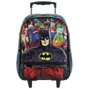 """Mochila Escolar Infantil 16"""" Com Rodas - Batman - Xeryus"""